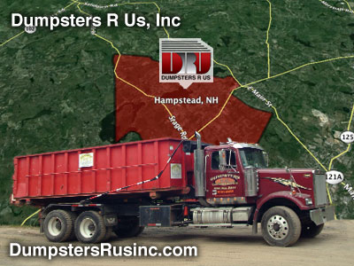 Dumpster rental Hampstead, New Hampstead provided by Dumpsters R Us, Inc.