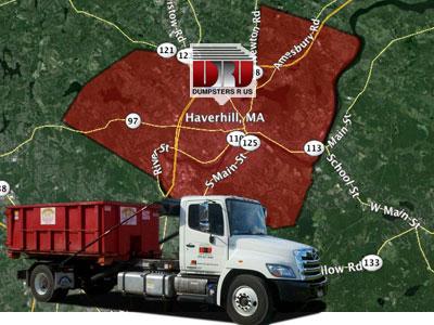 Dumpster Rental Haverhill MA. Delivered by Dumpsters R Us