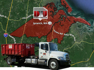 Dumpster Rental Ipswich MA. Dumpster rentals delivered by Dumpsters R Us