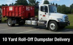 Dumpster rental MA - Andover 10 yard dumpster delivery.