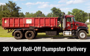 Dumpster rental MA - Andover 20 yard delivery