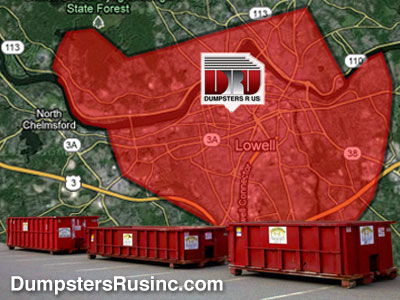 Dumpster rental and delivery in Lowell, MA by Dumpsters R Us, Inc