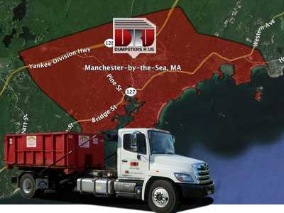 Dumpster Rental Manchester-by-the-Sea, MA. Delivered by Dumpsters R Us, Inc