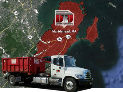 Dumpster Rental Marblehead MA. Delivered by Dumpsters R Us, Inc