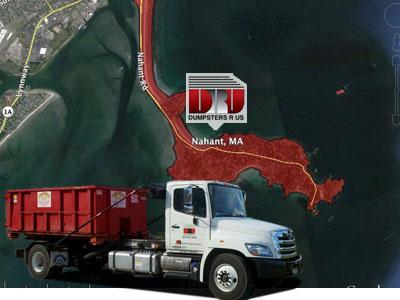 Dumpster Rental Nahant, MA. Delivered by Dumpsters R Us, Inc