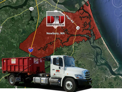Dumpster Rental Newbury, MA. Delivery by Dumpsters R Us, Inc
