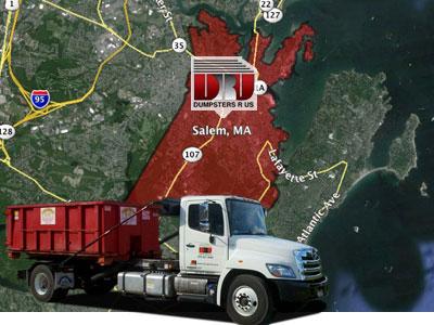 Dumpster Rental Salem, MA. Delivered by Dumpsters R Us, Inc