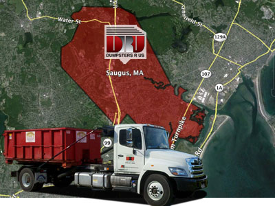 Dumpster Rental in Saugus, MA 01960. Delivered by Dumpsters R Us, Inc