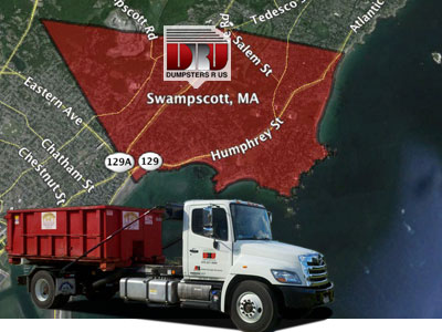 Dumpster Rental in Swampscott, MA 01907. Delivery by Dumpsters R Us, Inc