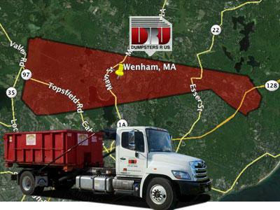Dumpster Rental Wenham, MA. Dumpsters R Us, Inc