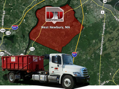 Dumpster Rental West Newbury, MA. Delivered by Dumpsters R Us, Inc
