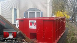 Residential dumpster rental in Danvers, MA.