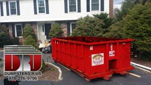 10 yard residential dumpster rental in Lexington, MA